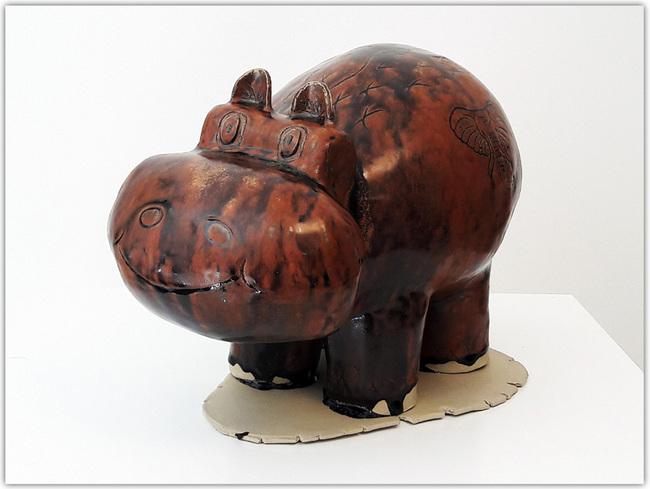 Hippopotame en céramique_Cours de poterie Terr'Ame
