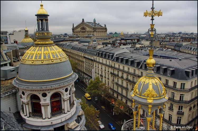 Paris vu du Printemps et des Galeries Lafayette