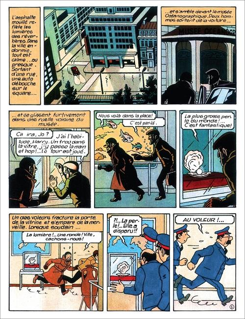 Tintin et le lac aux requins : version couleurs 44 planches