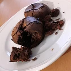Coulants au chocolat sans gluten