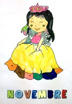 Coloriages de novembre MS/GS 2013-2014 : château, chevalier et princesses
