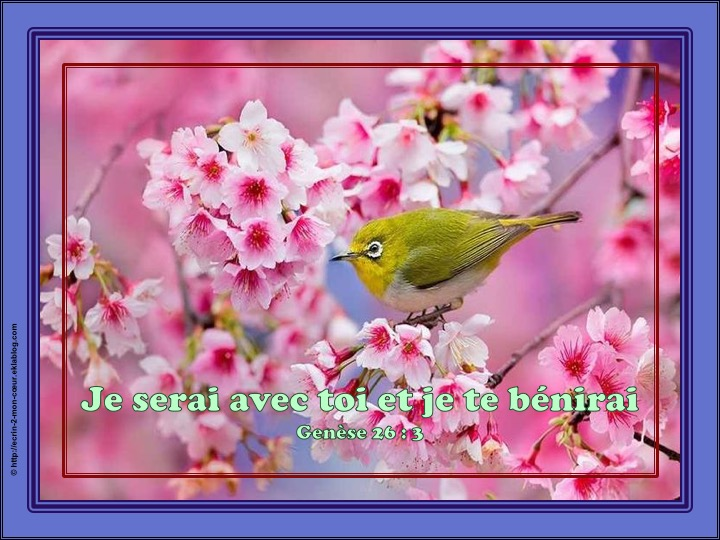 Je serai avec toi et je te bénirai - Genèse 26 : 3