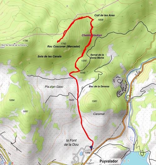 Puyvalador, Col des Ares, Roc Mercadal (raquettes)