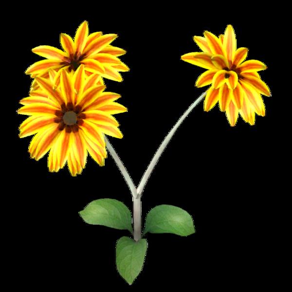 Image de dahlias jaune orangé (tube)