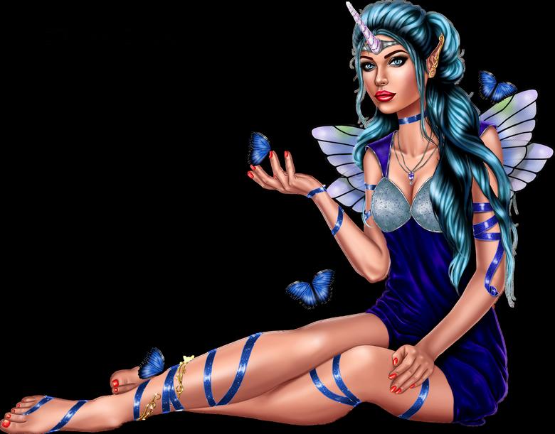 Tubes Femmes Papillon