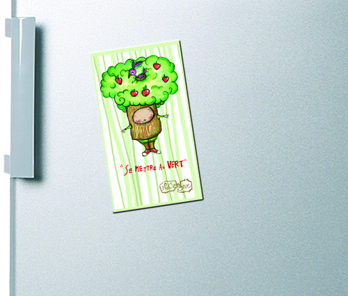 "Magnet ""se mettre au vert""  - 5 euros"