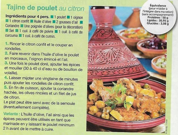Menu marocain