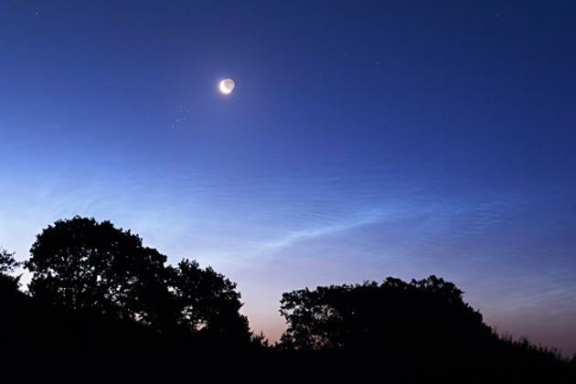 Lune et pléiades