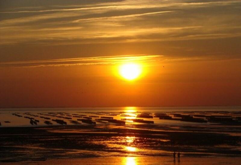 Un beau coucher de soleil en Normandie en compagnie de ma Mamouchka
