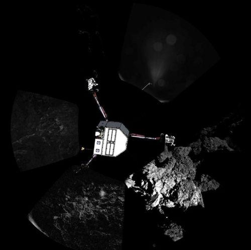Les aventures de Rosetta et de Philae.