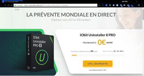 iObit,  nouveau procédé de vente : cherchez l'erreur