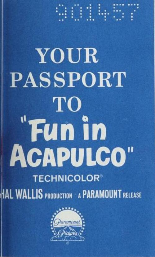 FUN IN ACAPULCO BOX OFFICE 1963