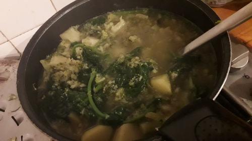 Calendrier de l'avent #11 : un velouté de légumes vert qui réchauffe {Vegan}