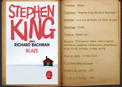 Blaze - Stephen King (alias Richard Bachman)