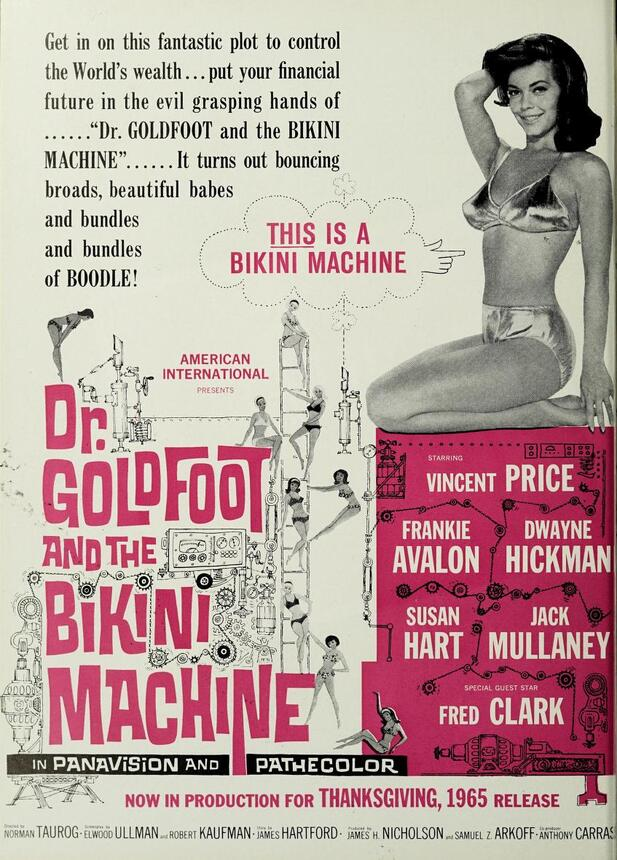 DR.GOLDFOOT AND THE BIKINI MACHINE box office us 1965