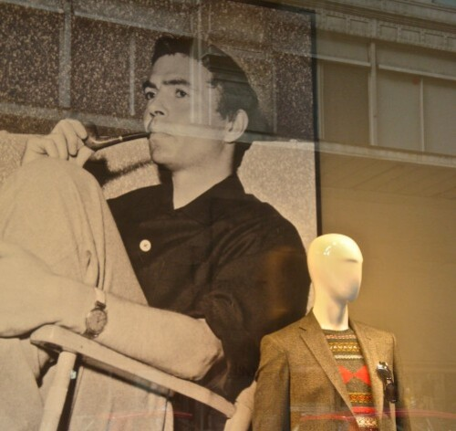Printemps Brummell mannequin et star James Mason