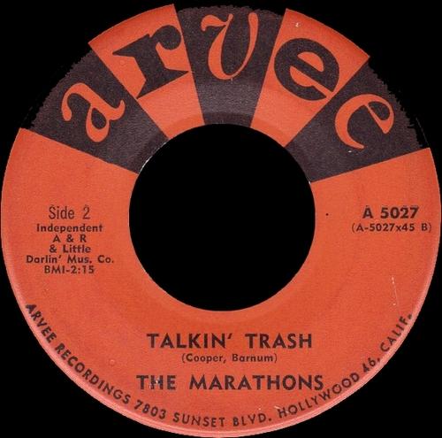 """The Marathons : Album """" Peanut Butter """" Arvee Records A 428 [ US ] en 1961"""