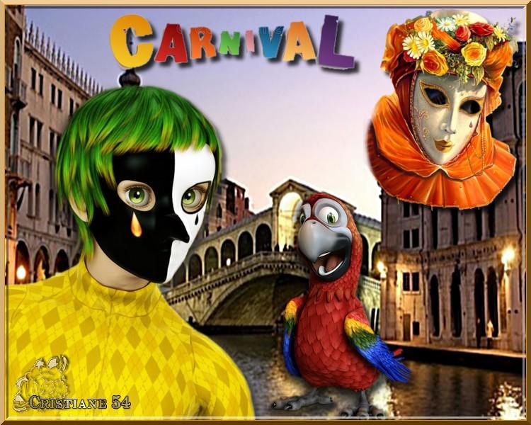 Un défi sur le carnaval pour mon amie Capucine !