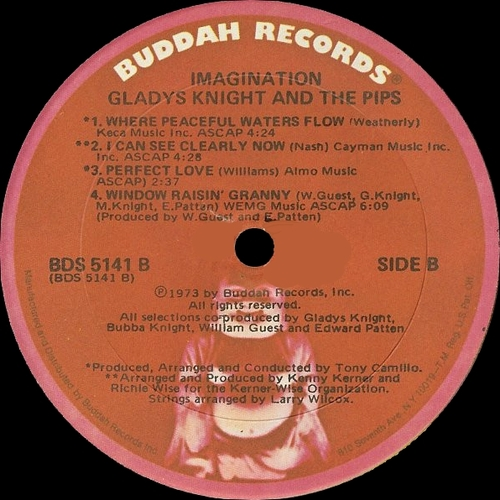 "Gladys Knight & The Pips : Album "" Imagination "" Buddah Records BDS 5141 [US]"