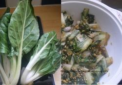 Servir le peuple : Blettes sautées nature 素炒小白菜