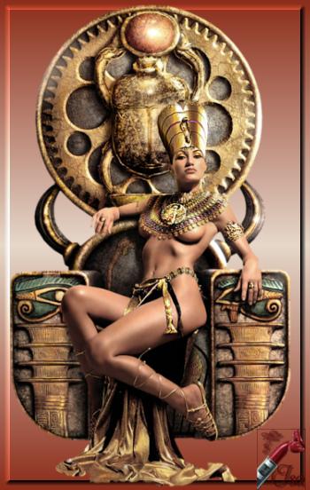 EG0005 - Tube reine égyptienne