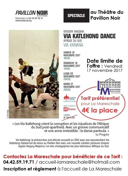 Seulement 4€ la place : spectacle au Pavillon Noir en novembre 2017 !