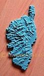 Ile Corse relief topographique en platre - Arts et Sculpture: sculpteur mouleur
