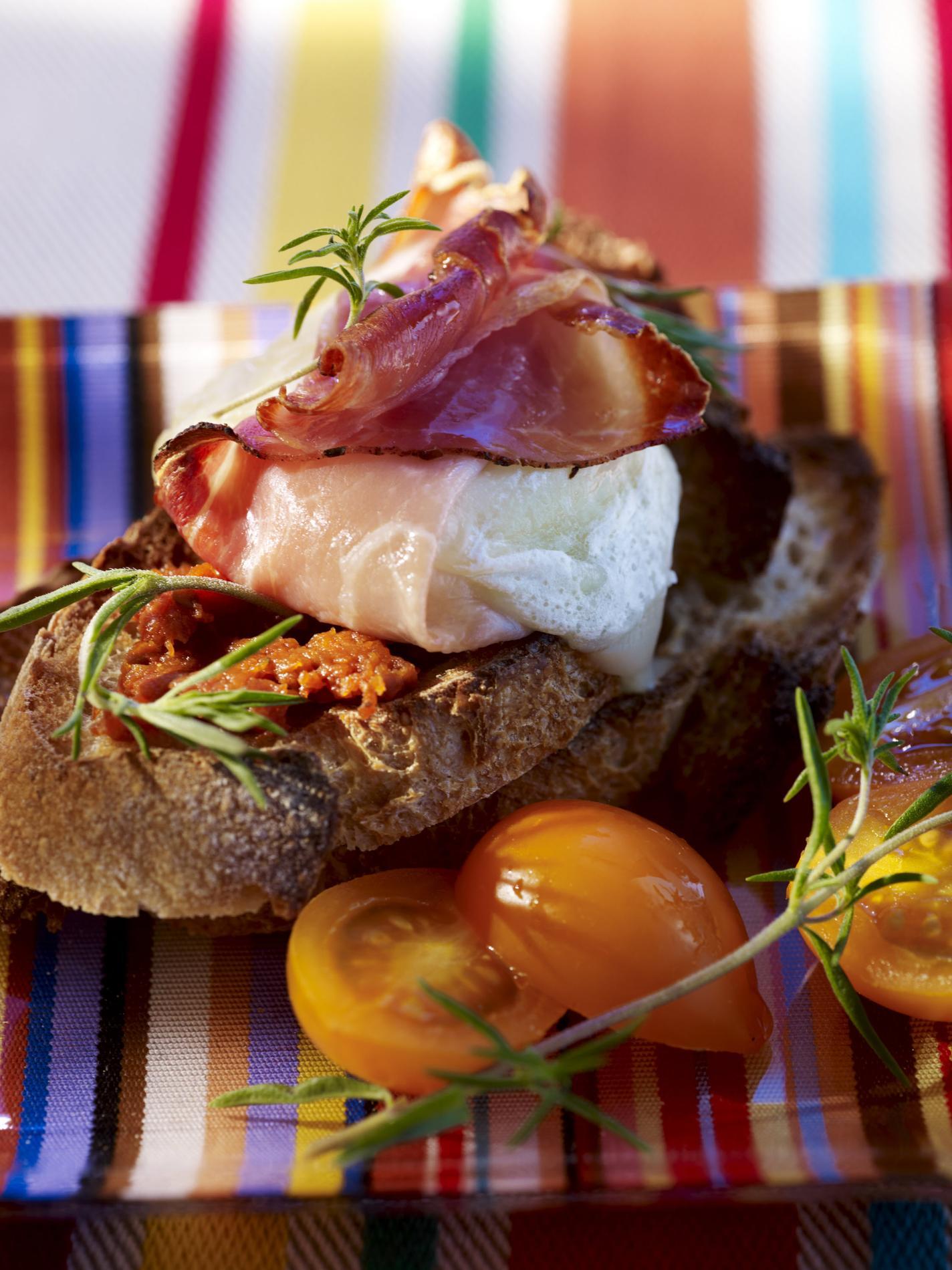 """Résultat de recherche d'images pour """"Tartines de chèvre fondu au jambon"""""""