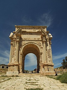 1742-Arch of Septimus Severus, Leptis Magna, Libya-20060415