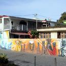 La fresque en l(honneur d'Aimé Césaire au coeur du bourg - Photo : Michaël (2015)
