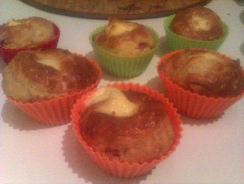 Muffins au coeur de Vache qui rit