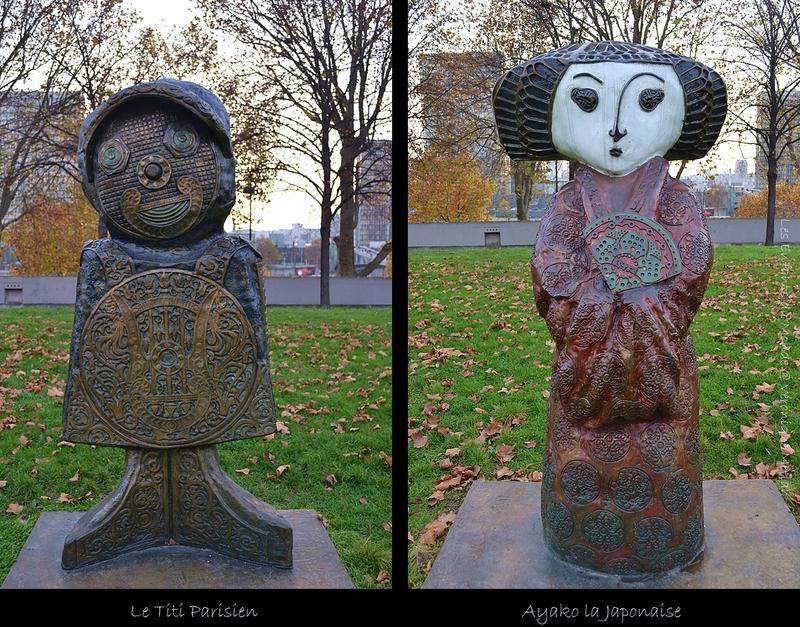 Les Enfants du monde dans les Jardins de Bercy à Paris