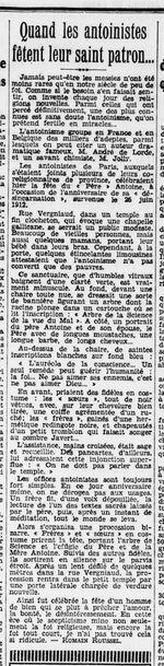 Quand les Antoinistes fêtent leur saint patron (La Revue hebdomadaire, 26 juin 1932)