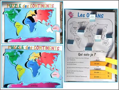 continents oceans