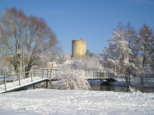 Neige tardive sur Issoudun