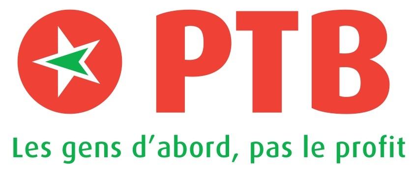 Logo du PTB (Parti du Travail de Belgique)
