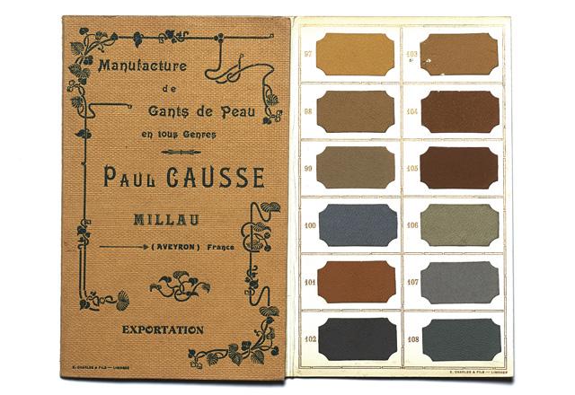 Carte de coloris, début du XXè siècle