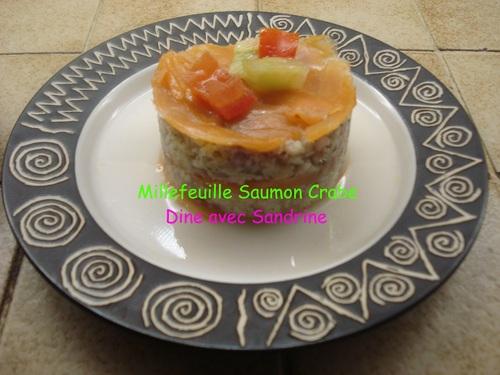 Des Millefeuilles Saumon et Crabe