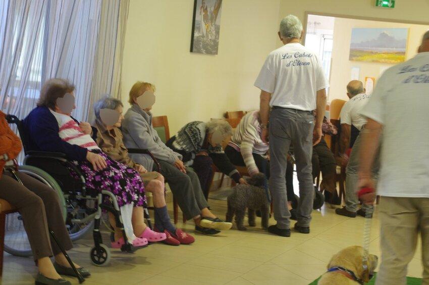 suite de la visite à la maison de retraite de Soubise