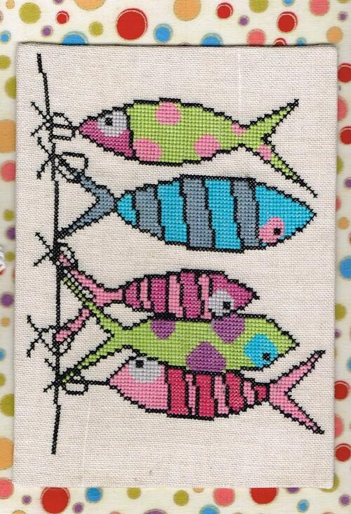 poissons brodés