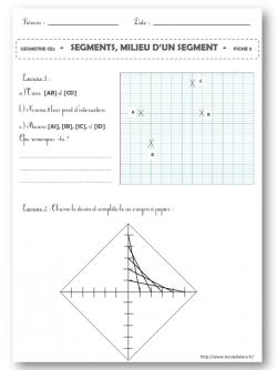 Géométrie : Segments, milieu d'un segment