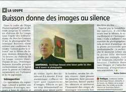"""BD/ DLB   """" Conférence au Château de LA LOUPE (28) """"....DEMAIN !!!!"""
