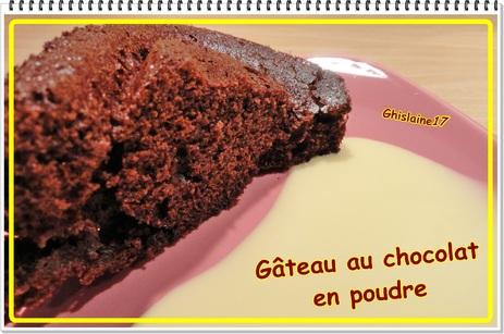 Gâteau au chocolat en poudre