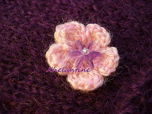detail fleur echarpe Auregann