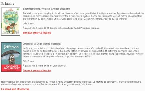 Epreuves Cercle Gallimard