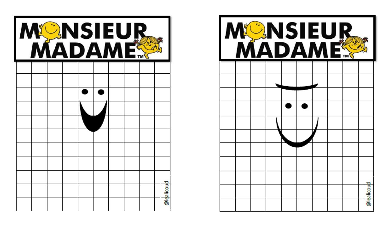 Pixel Art Monsieur Madame Maitresse Aurel
