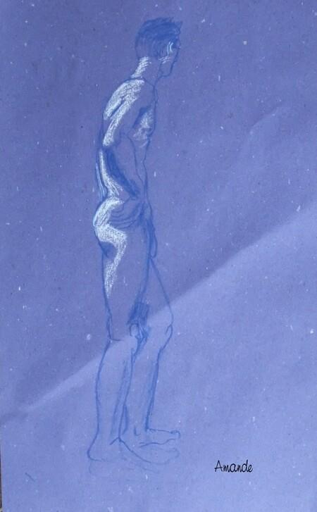 Eh les filles !  un homme ! (18) à la Giacometti...