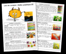 Ateliers graphiques MS - Consignes à coller