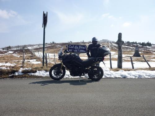 balade moto forez col du béal