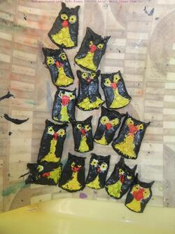 Projet : les chouettes et hiboux en arts